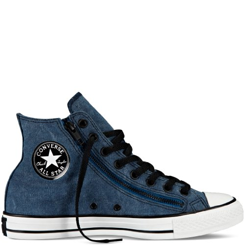 e92ee99253f0 Converse Hi Chuck Taylor All Star Double Zip Shoes Size 9 D M US Mens 11 B  M US Womens Color Poseidon