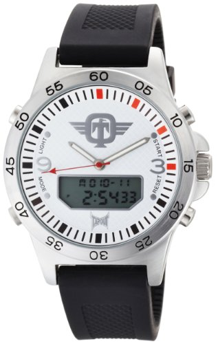 TapouT Men's DF-WH Digital and Analog White Watch