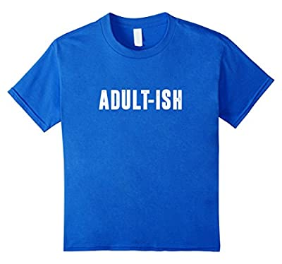 Adult-Ish Funny Vintage Style Adult T Shirt