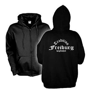 Kapuzenjacke Freiburg Tradition verpflichtet, Hoodie S - 6XL (SFU05-30e)