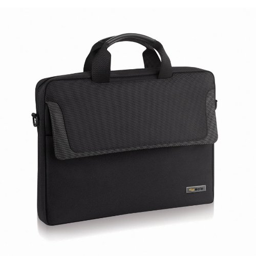 SOLO Sterling Collection Laptop Slim Brief, Holds Notebook Computer up to 14.1 Inches, Black (CLA112-4)