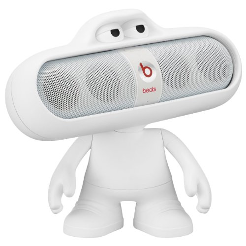 Beats Pill 2.0 Portable Speaker & Dude Character - White (Bundle)