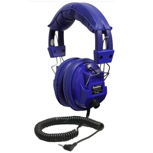 "Kids Blue, Deluxe Stereo/Mono Headphone With 1/8"" Plug And 1/4"" Adapter And Volume Control"