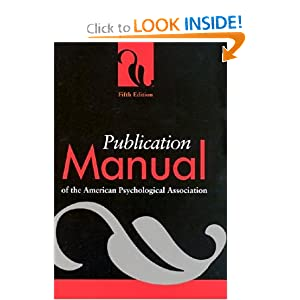 Publication Manual of the American Psychological Association - Unknown