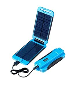 Powertraveller Powermonkey Extreme 5V and 12V Solar Portable Charger, Blue