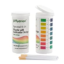 Micro Essential Lab Plastic pH Test Strips 100 pH Strips/Vial
