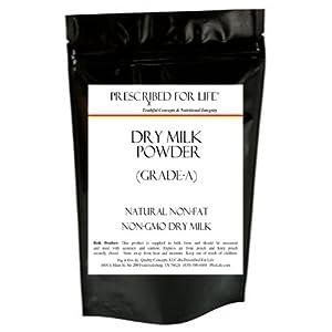 Dry Milk Powder (non-GMO) - Natural Non-Fat - Grade A, 12 oz
