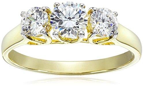 10k-Yellow-Gold-Three-Stone-Round-Ring-Made-with-Swarovski-Zirconia-125-cttw