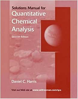 quantitative chemical analysis solutions manual download