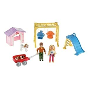 Amazon.com: Fisher Price Loving Family Outdoor Fun Playset ...