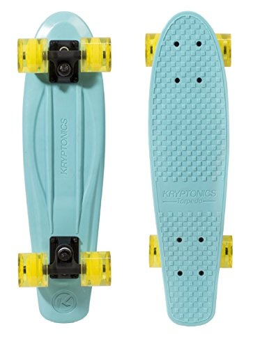 Kryptonic Kryptonic Torpedo Sky Skateboard Retro Color, Sky Blue