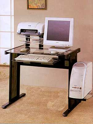 Buy Low Price Comfortable Versatile Computer Workstation With Glass Top (B0007X19GY)