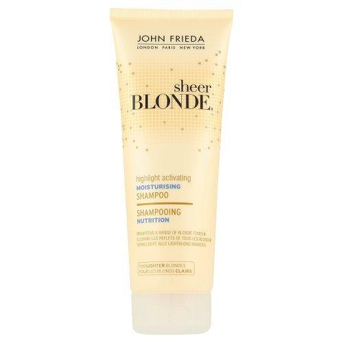 John Frieda Sheer Evidenziare Biondi Attivazione idratante Shampoo per Lighter Blondes 250ml