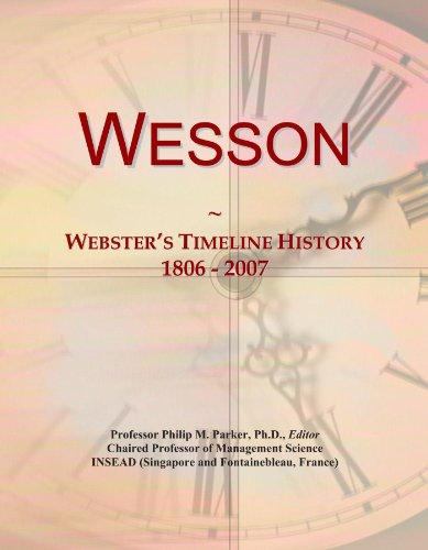 wesson-websters-timeline-history-1806-2007