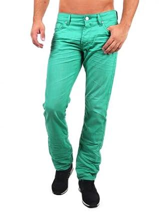 "Tom Tailor Herren Jeans ""COLOURED SLIM STRAIGHT"" green alien Grösse 31W / 34L"