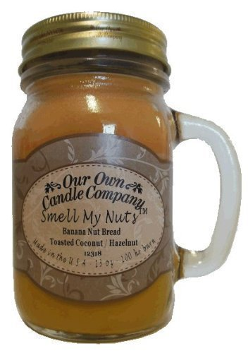 13 oz Smell My Nuts Mason Jar Candle (Our Own Candle Company Brand) Made in USA (1)