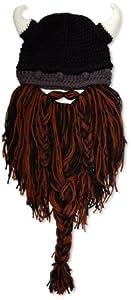 Beard Head Barbarian Pillager Beanie, Brown/Black, One Size