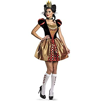 Disguise Women's Alice In Wonderland Movie Sassy Queen Costume, Red, Womens L (12-14)