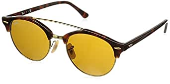 Ray-Ban UV Protected Round Men's Sunglasses - (0RB4346990/3351|51 Brown lens)