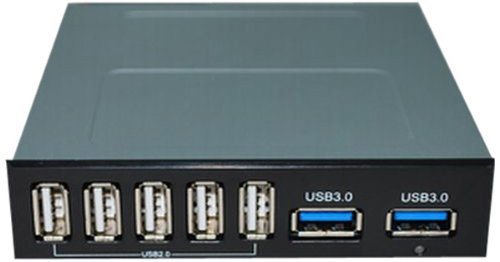 CVS 3.5インチベイ内蔵フロントI/Oキット USB3.0×2/USB2.0×5 ED-UB-IN7