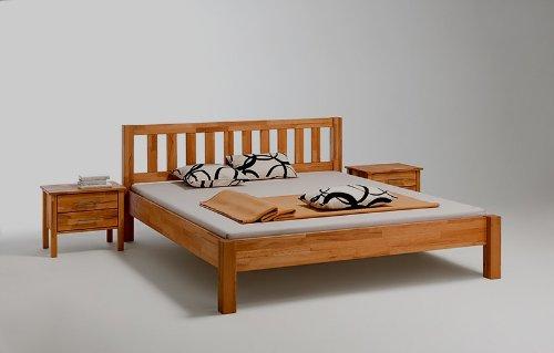 Massivholz Bett Kernbuche geölt 120 x 200 cm OHNE NACHTTISCH