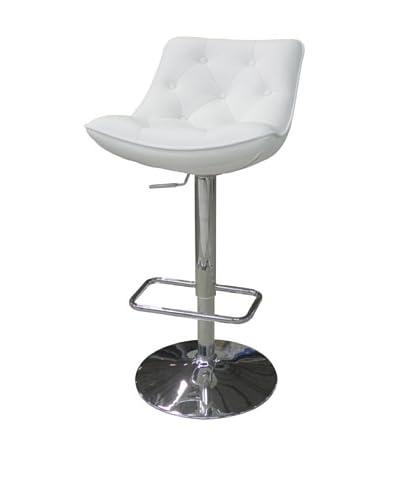 Furniture Contempo Cindy Bar Stool, White/Silver