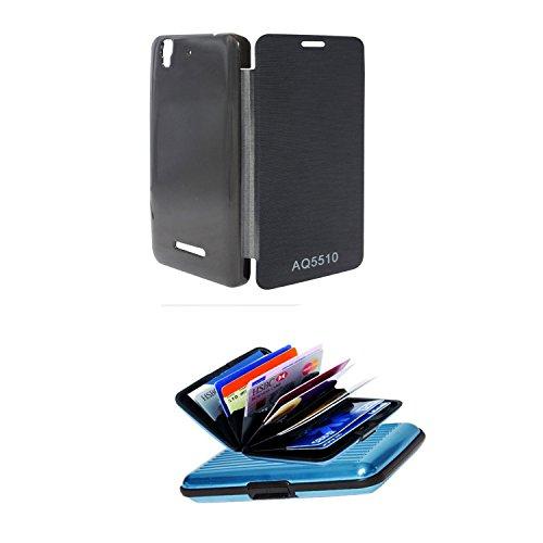 Micromax Yu Yureka AO5510 flip cover + credit card wallet by jakkasdeal