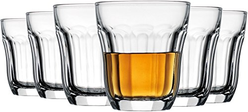 Elegant Home Set of 6 Shot Glasses for Drinking Whiskey Liquor or Dessert Samplers 3.3 Oz (Clear) (Small Beer Glasses compare prices)