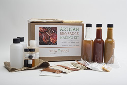 Artisan DIY BBQ Sauce Making Kit - Makes a Tomato Based Barbeque Sauce, a Mustard Based Barbecue Sau