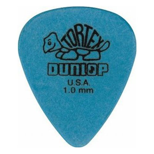 Dunlop Standard Tortex Picks, 12 Pack, Blue, 1.00mm