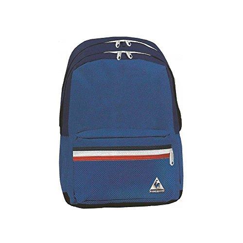Le Coq Sportif-Zaino con 2 scomparti, colore: blu/bianco/rosso