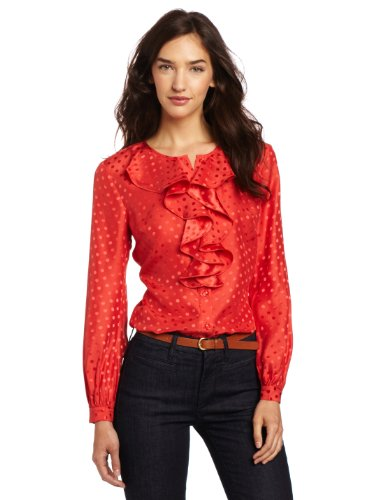 Trina Turk Women's Long Sleeve Hot Toddy Blouse