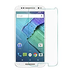 iKraft Premium 9H 0.3mm Tempered Glass with Curved Edges for Motorola Moto X Style