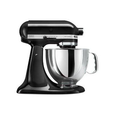 KitchenAid KSM150P 5-Quart Artisan Stand Mixer Appliances Cookware - Black