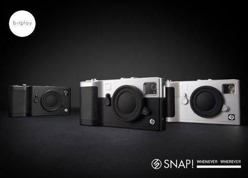 iPhoneケース Snap! BK/SV