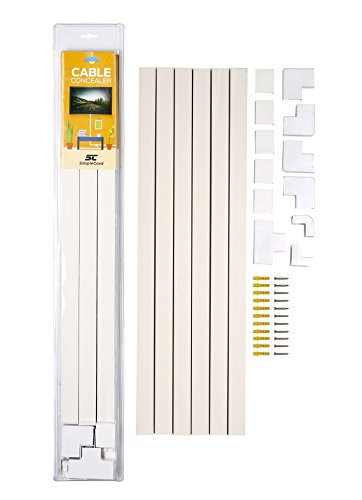 Cable Concealer On-Wall Cord Cover Raceway Kit - Cable Management System to Hide Cables, Cords, or Wires - Organize Cables to TVs and Computers at Home or in The Office (Office Wall Cover compare prices)