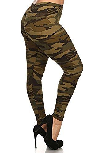 LJIF PLUS Army Camo Leggings Pants Spandex Women's Jeggings XL,XXL,XXXL 1X, 2X, 3X (XL)
