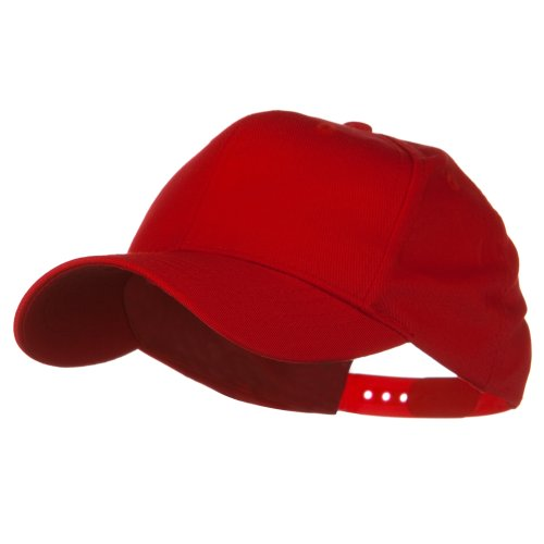 Youth Cotton Twill Pro Style Cap - Red OSFM (Children Baseball Cap compare prices)