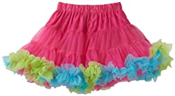 Mud Pie Baby Girls' Pettiskirt, Hot Pink/Blue/Green, 2T 5T