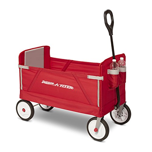 Radio Flyer 3-in-1 EZ Fold Wagon Ride On, Red (Folding Wagon With Seats compare prices)