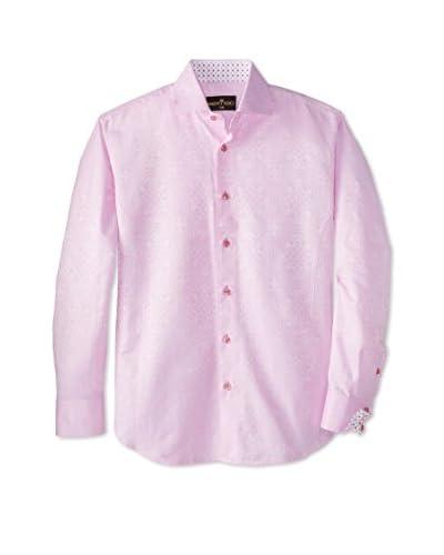Bertigo Men's Tonal Paisley Long Sleeve Shirt