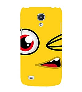 ANIMATED CARTOONISH EYE IN A YELLOW BACKGROUND 3D Hard Polycarbonate Designer Back Case Cover for Samsung Galaxy S4 :: Samsung Galaxy S4 i9500