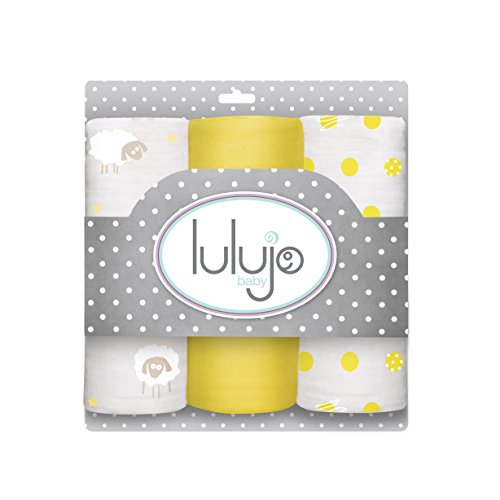 Lulujo Baby Muslin Cloths, Sunshine Yellow, Mini, 3 Count