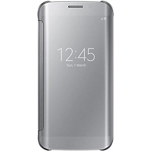 Samsung Window Flip Premium Case Cover for Samsung Galaxy S6 Edge - Silver