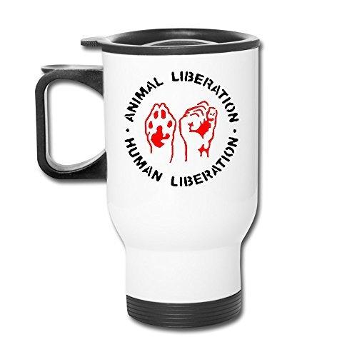 DH&GF ANIMAL RIGHTS Vegetarian Ceramic Thermos Travel Travel Coffee Mugs by DH&GF
