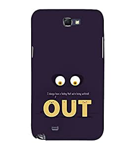 Funny Eyes Out 3D Hard Polycarbonate Designer Back Case Cover for Samsung Galaxy Note 2 :: Samsung Galaxy Note 2 N7100