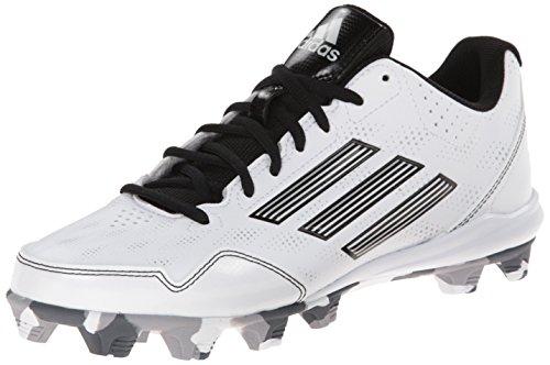 adidas Performance Women's Wheelhouse 2 W Softball Cleat, White/Black/Metallic/Silver, 9 M US