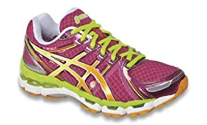 ASICS Women's Gel-Kayano 19 Running Shoe,Raspberry/Mango/Lime,6 M US