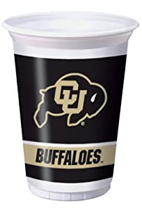 Buy Creative Converting University of Colorado Buffaloes Printed 20 Oz. Plastic Cups (8 Count) by Creative Converting