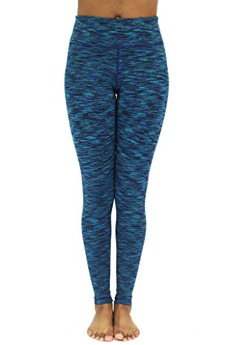 90 Degree By Reflex Fleece Lined Yoga Leggings - Secret Garden Space Dye XL